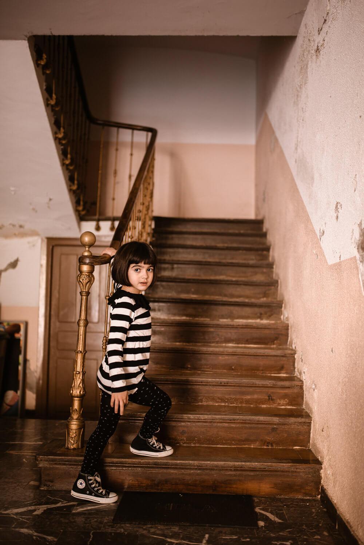 striped frill turtleneck body for kids mood