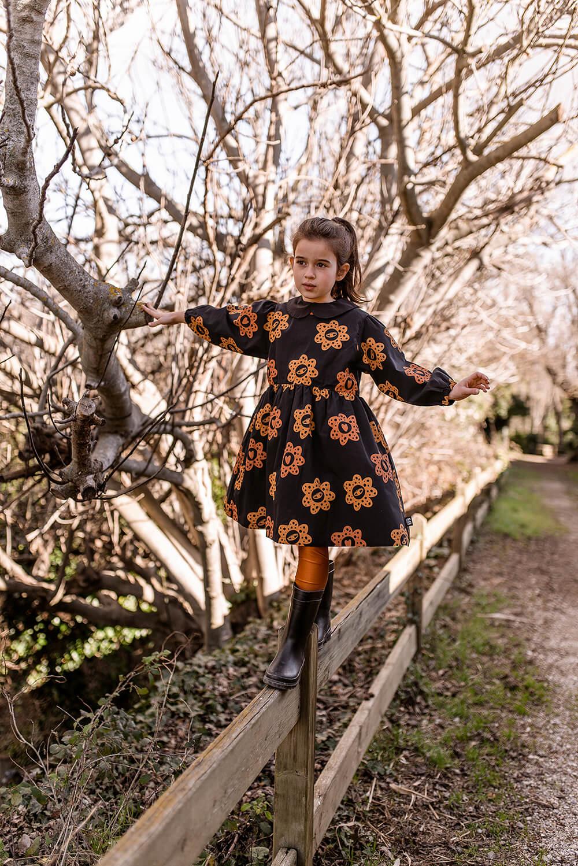 happy flowers dress for kids mood