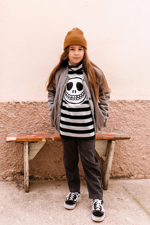 funny skull turtleneck for kids mood