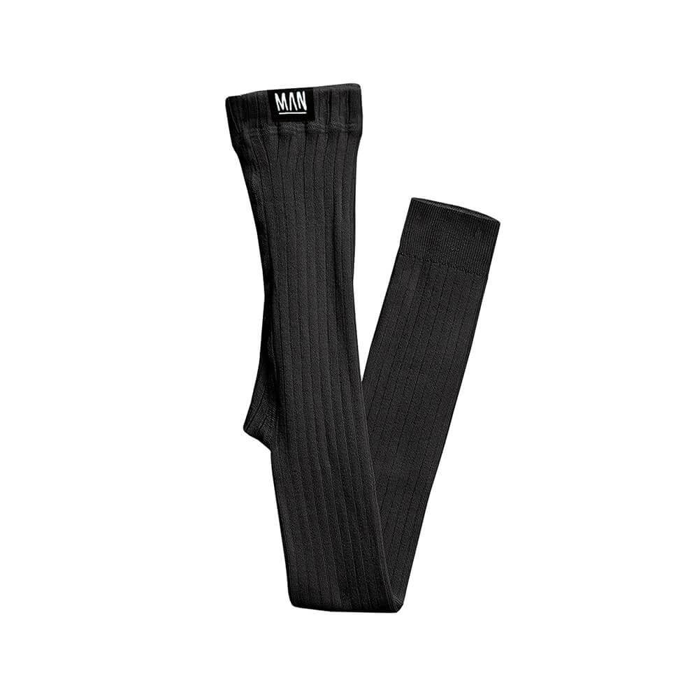 black rib leggings for kids
