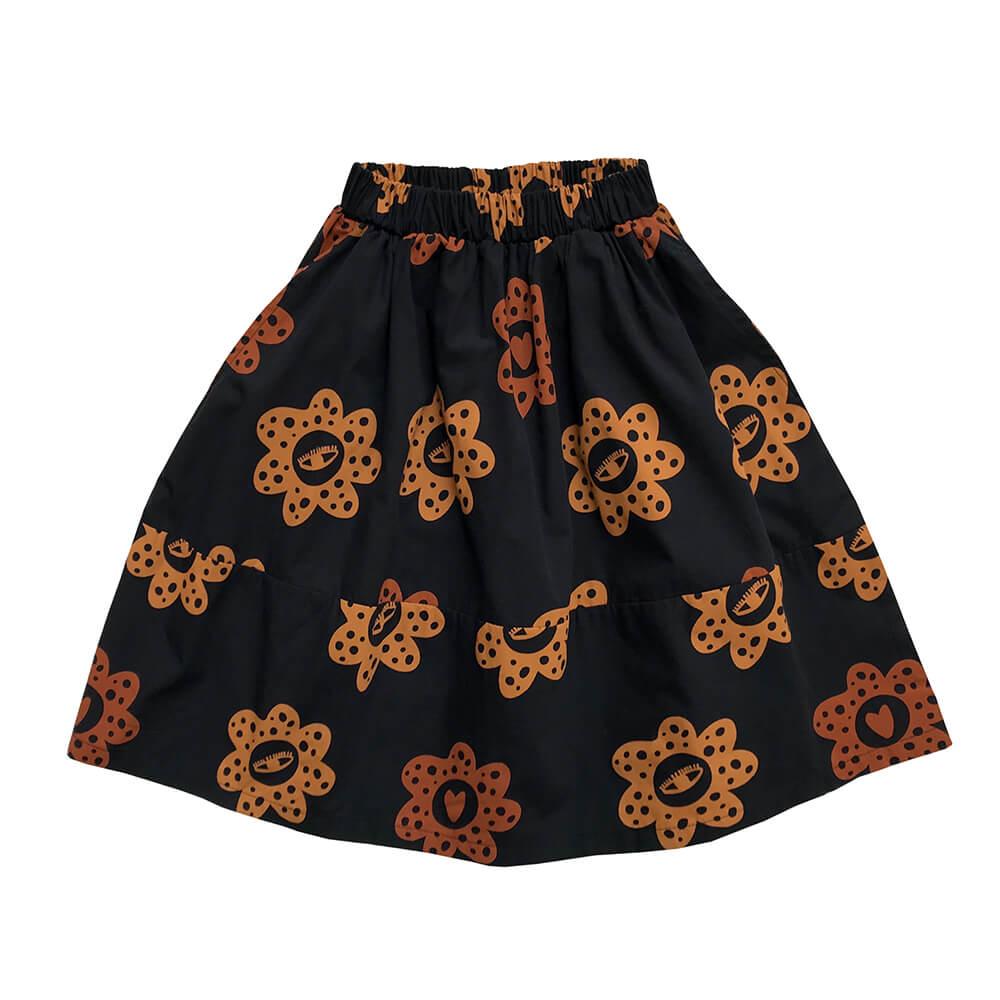 happy flowers midi skirt