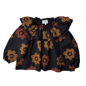 happy flower party blouse for kids