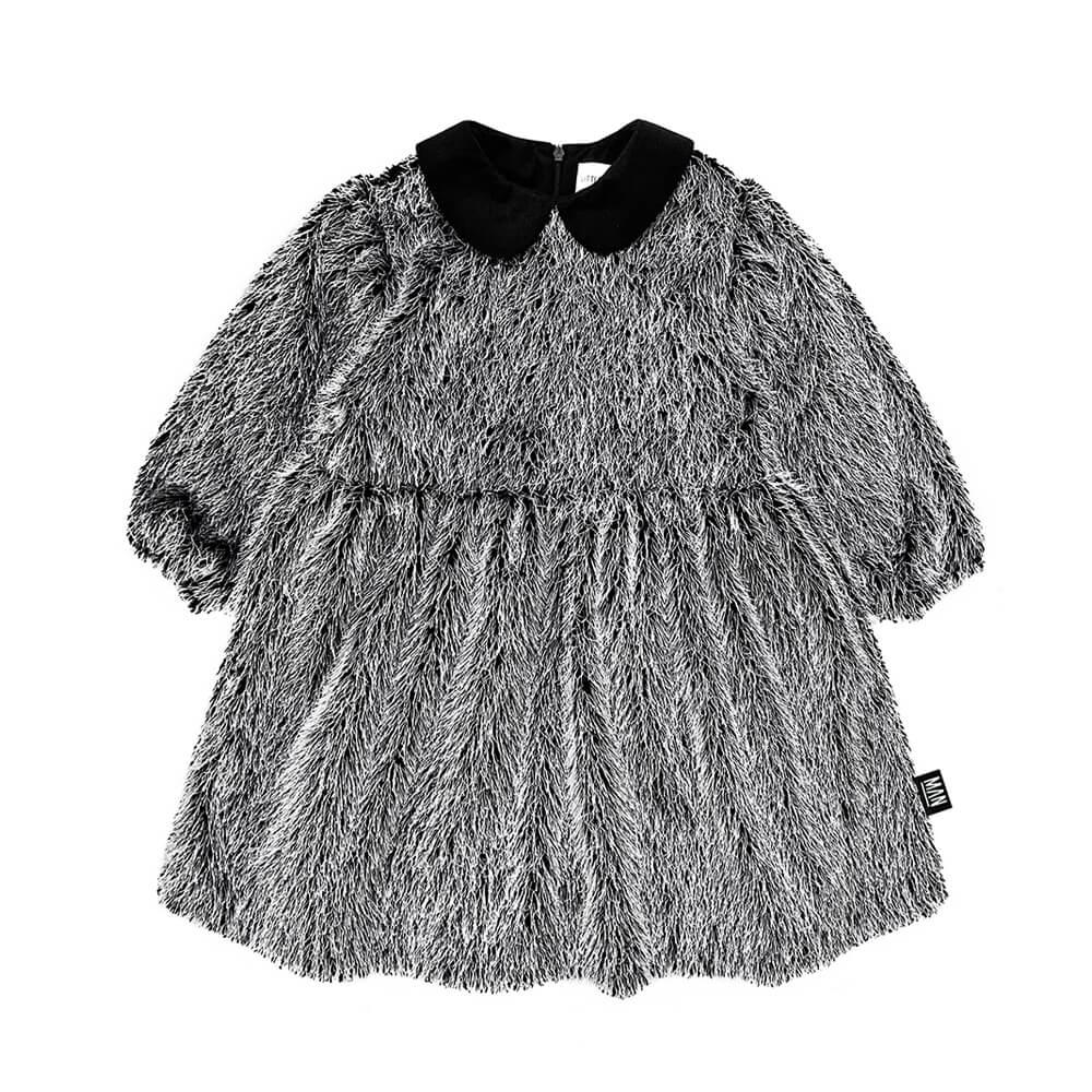 fringe party dress for kids front