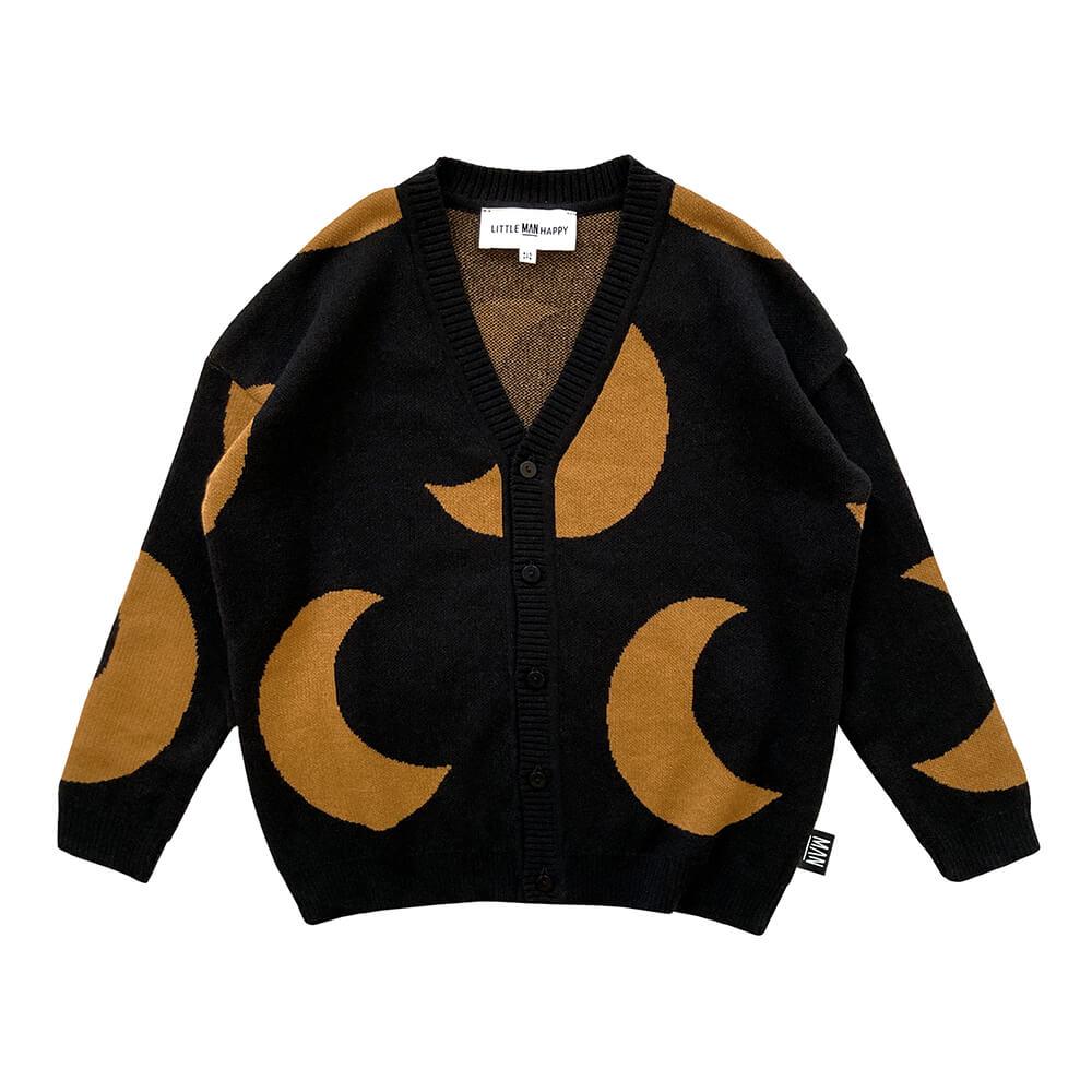 half moon knitted cardigan