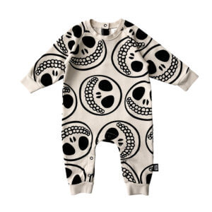skull baby jumpsuit