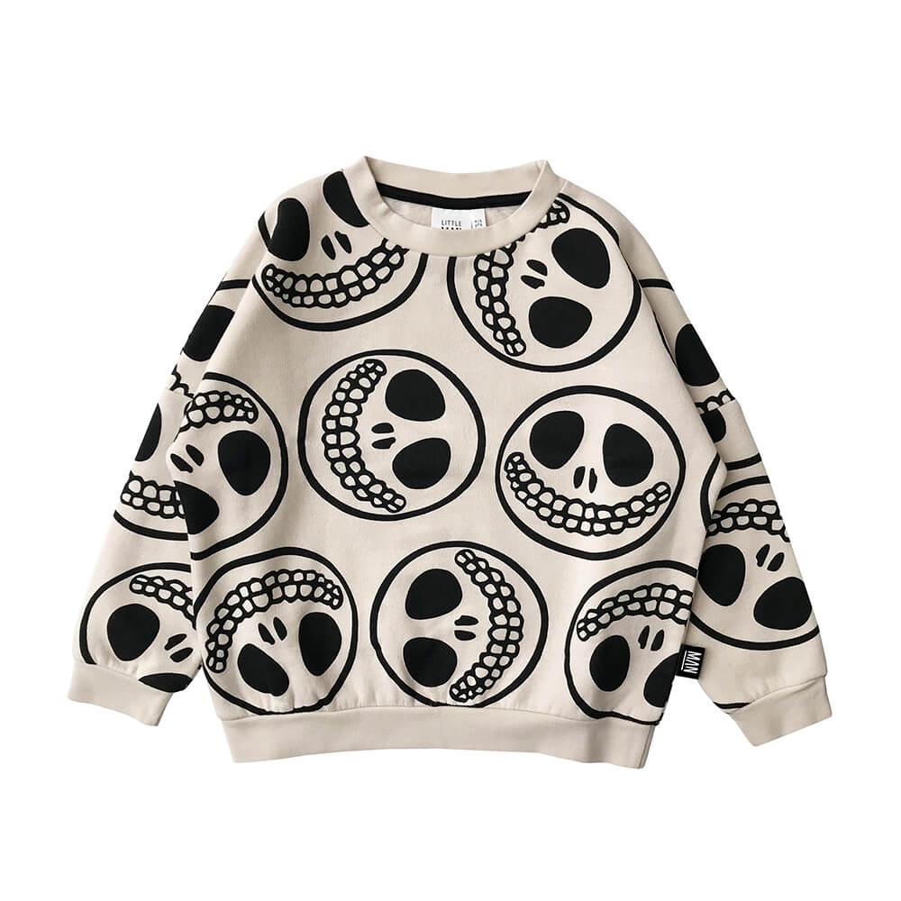 skull smiley kids sweater