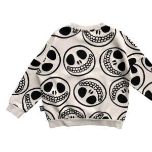 skull smiley kids sweater back