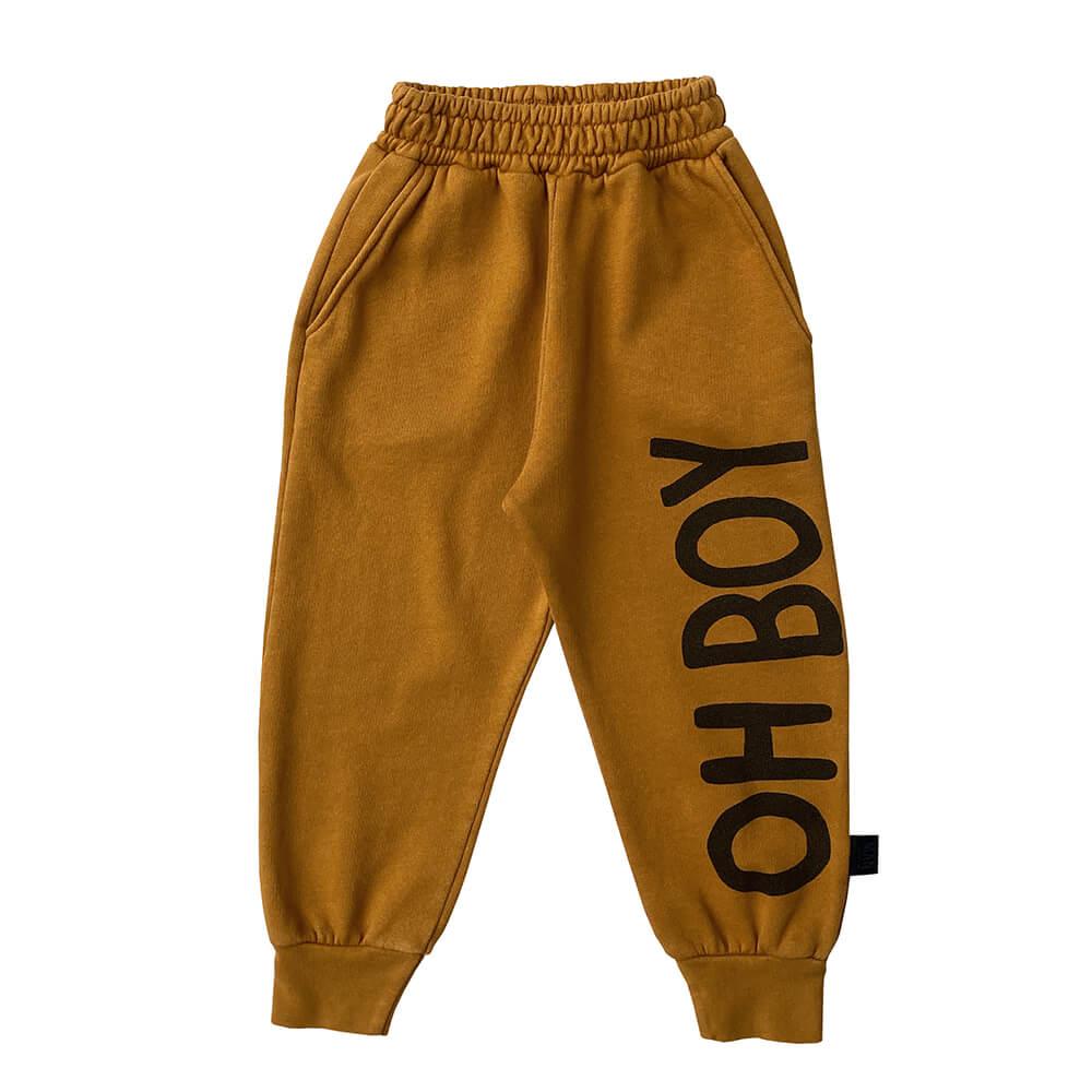 brown garment dye sweatpants