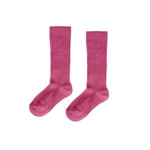 rose ribbed knee socks for kids