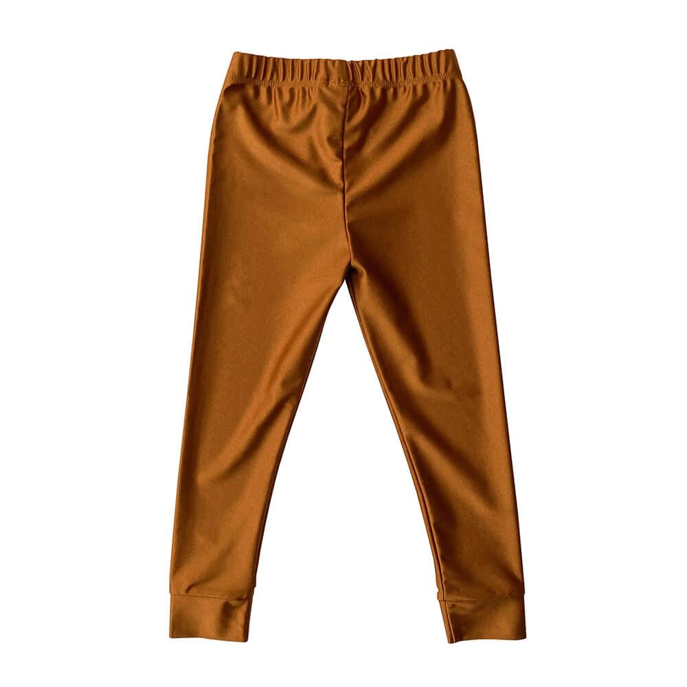 gold shiny leggings for kids back