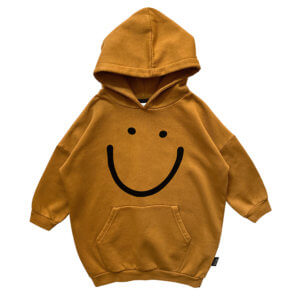 smile hoodie dress for kids
