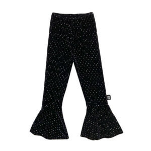 flared leggings with crystal dots