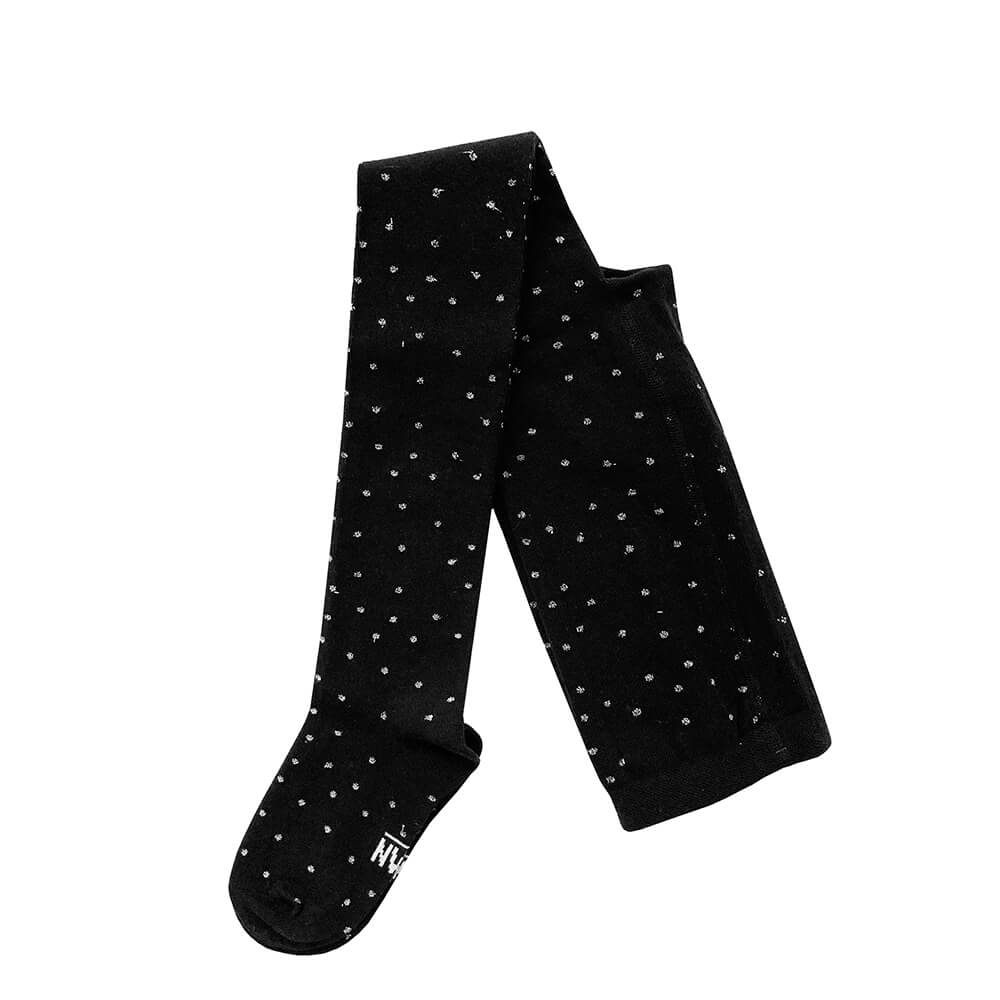 sparkled metallic dots tights for kids