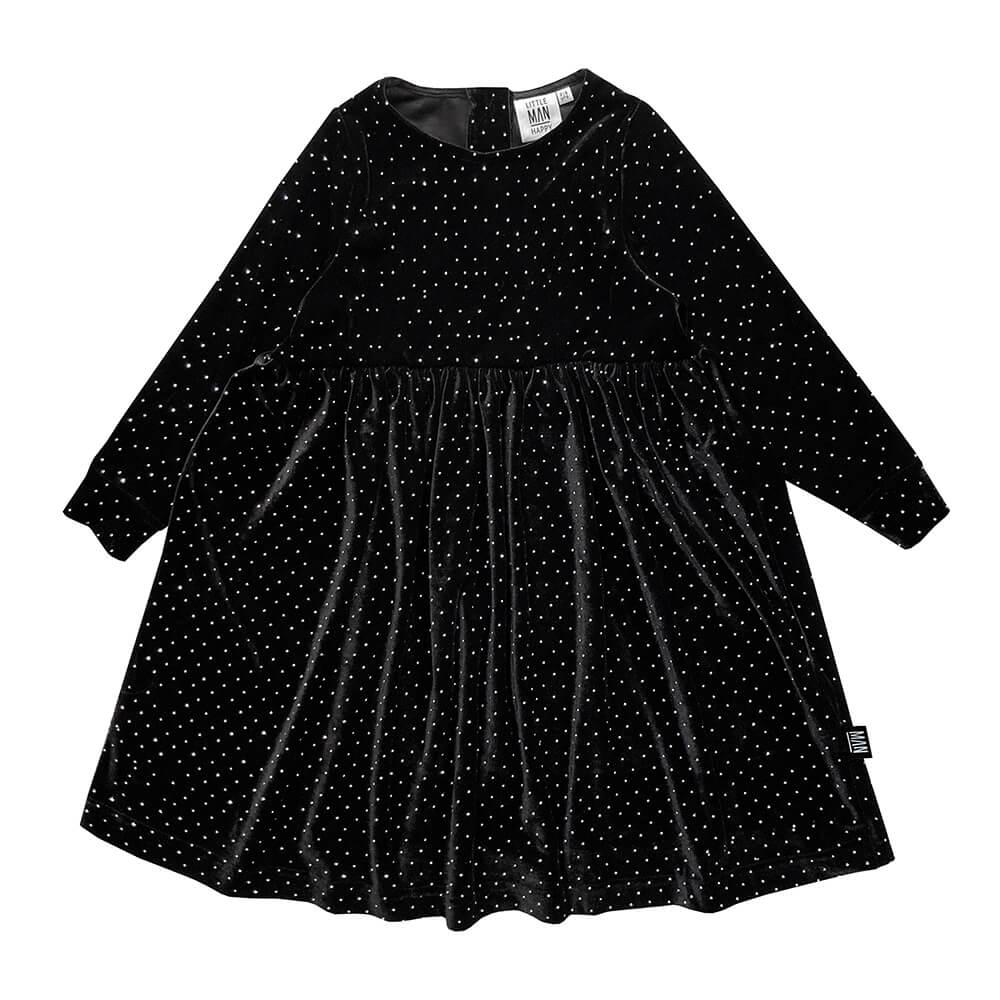 sparkled longsleeve dress for kids