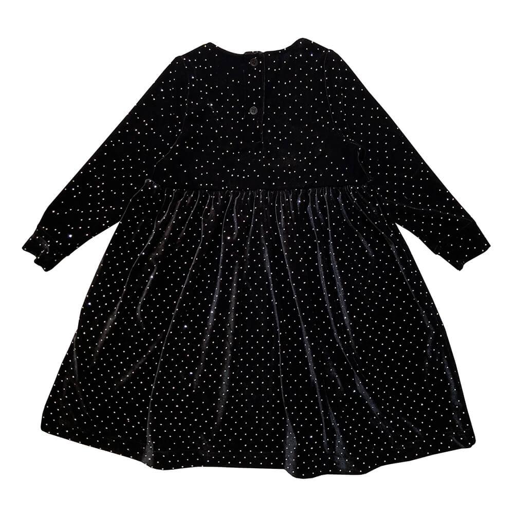 sparkled longsleeve dress for kids back