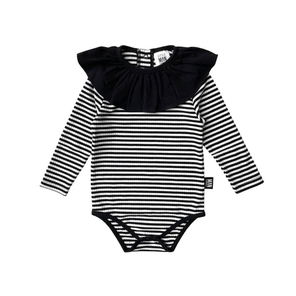 striped baby frill body
