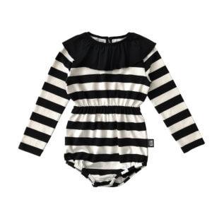 striped frill turtleneck body for kids