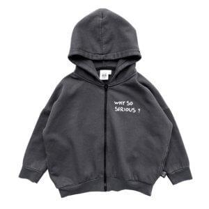 skull hoodie jacket front