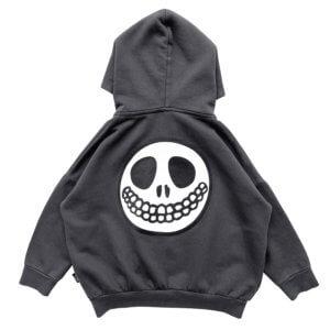 skull hoodie jacket back