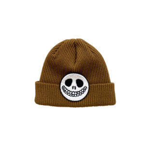 brown knitted beanie for kids
