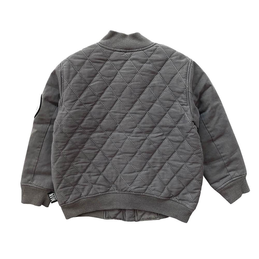 stonewashed bomber jacket for kids back