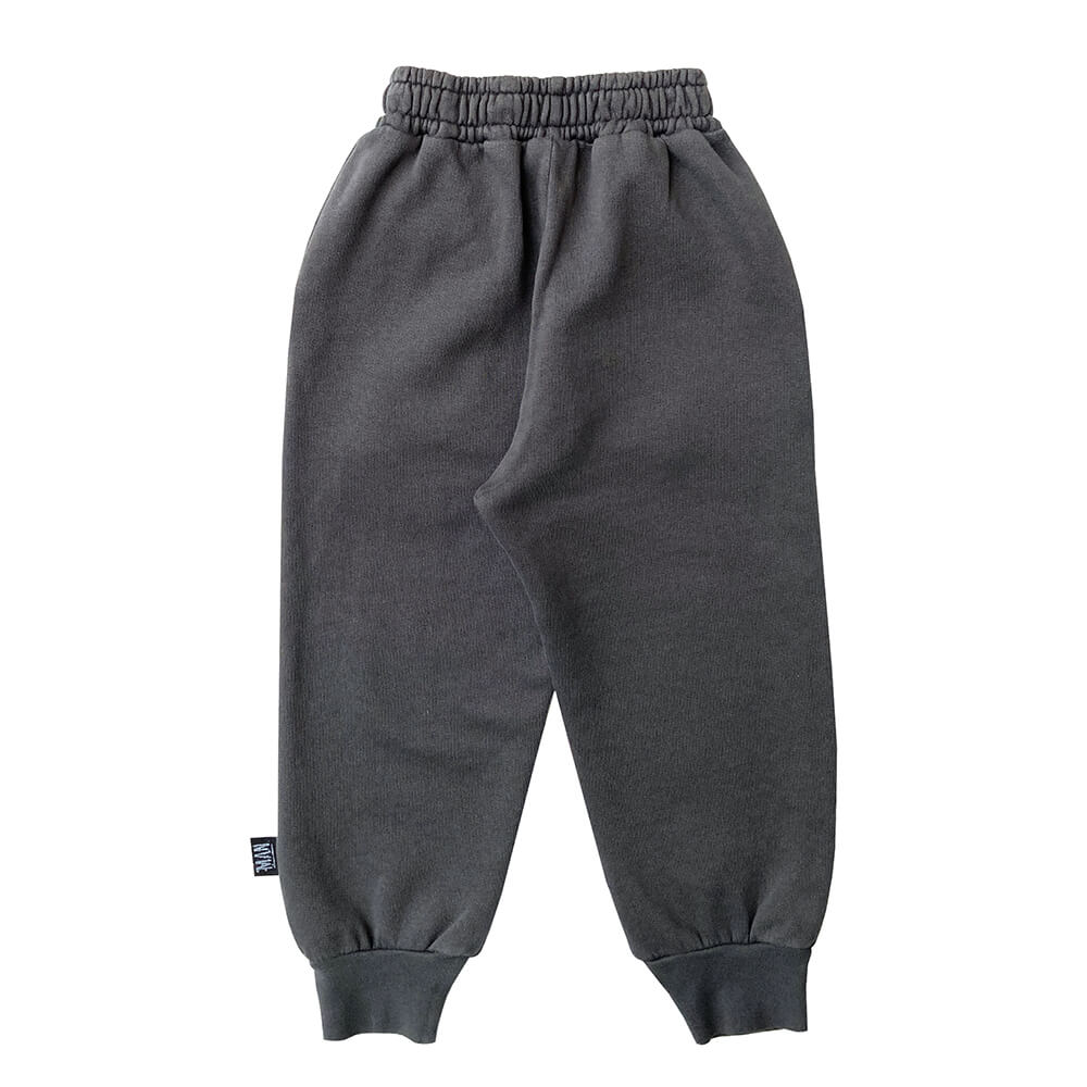 patched skull sweatpants back