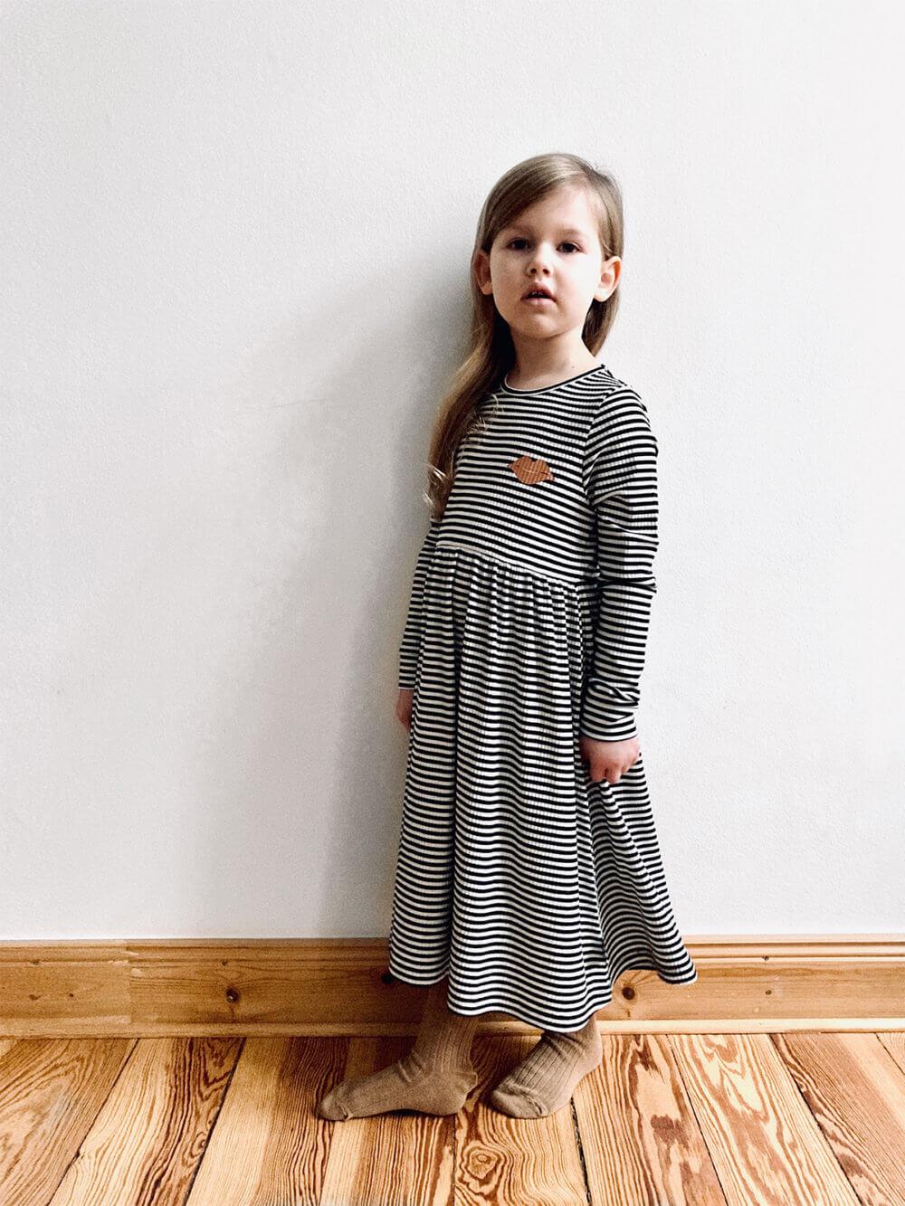 striped dress for kids studio