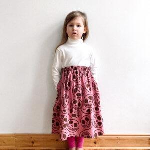 happy skull midi skirt