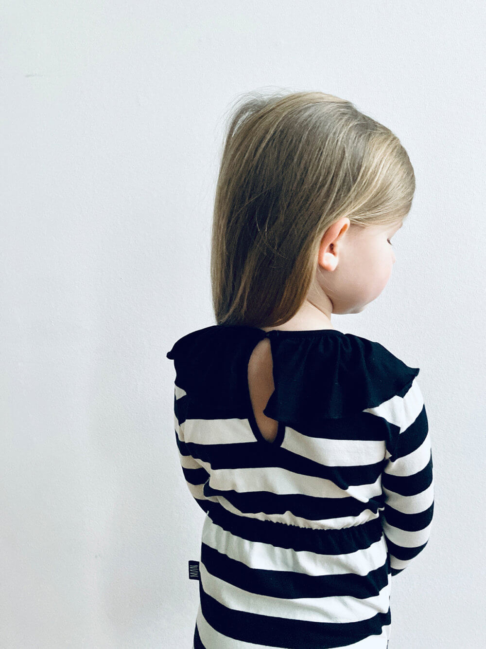striped frill turtleneck body for kids studio